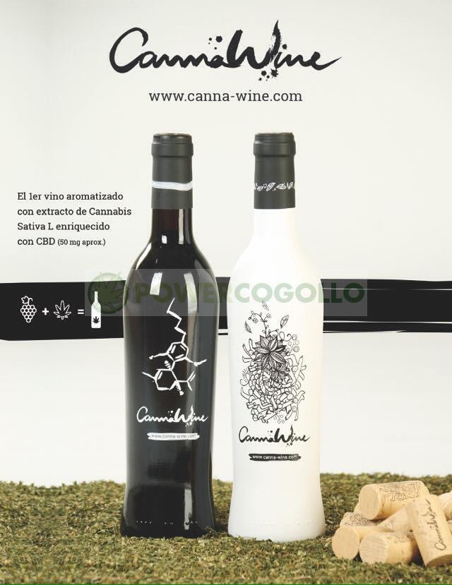 CannaWine Vino Blanco con CBD 2
