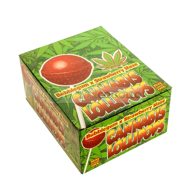 Chupa Chup de Marihuana con chicle StrawBerry 2