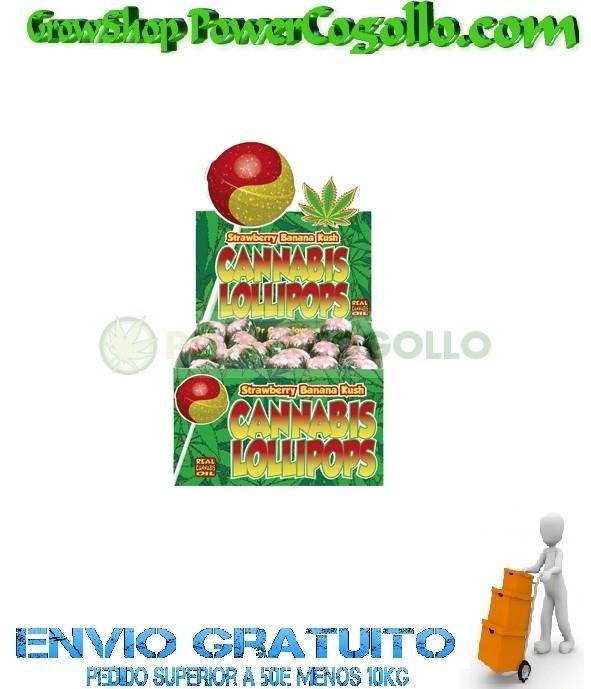 Chupa Chup Strawberry Banana Kush con chicle 0