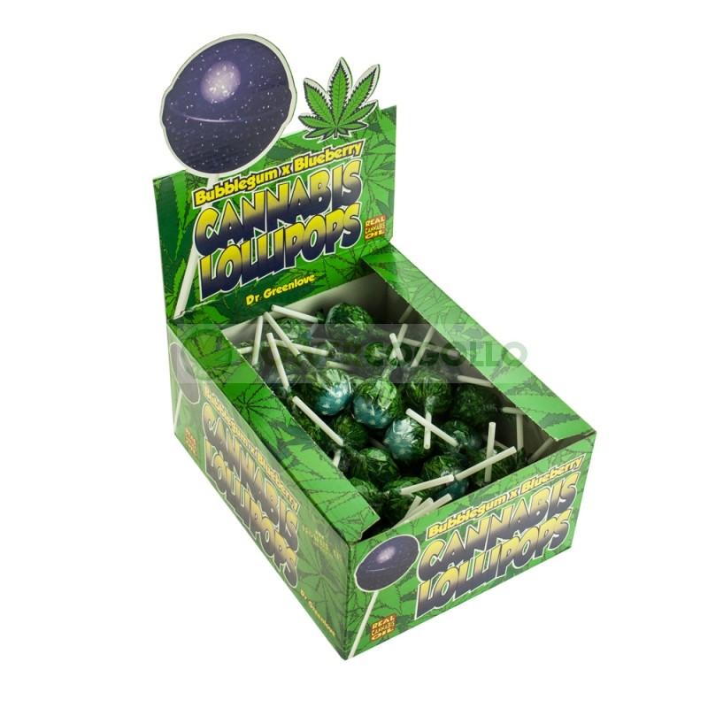 ChupaChup de Marihuana con chicle Blueberry 0