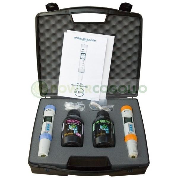 Kit Profesional Hortitec (Medición Dig. Ph y EC)  0
