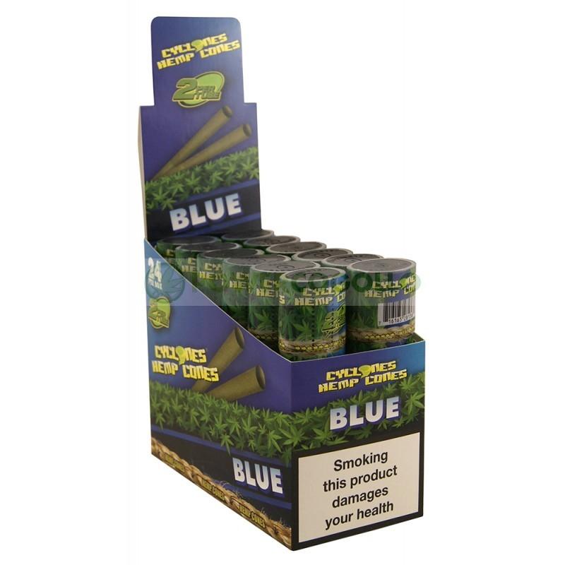 Cones Cyclones Hemp Blunt Blue (2 conos) 0