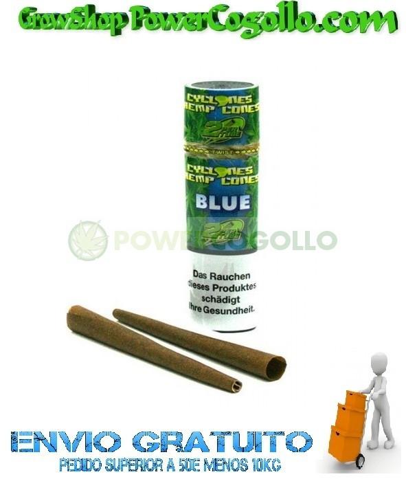 Cones Cyclones Hemp Blunt Blue (2 conos) 1