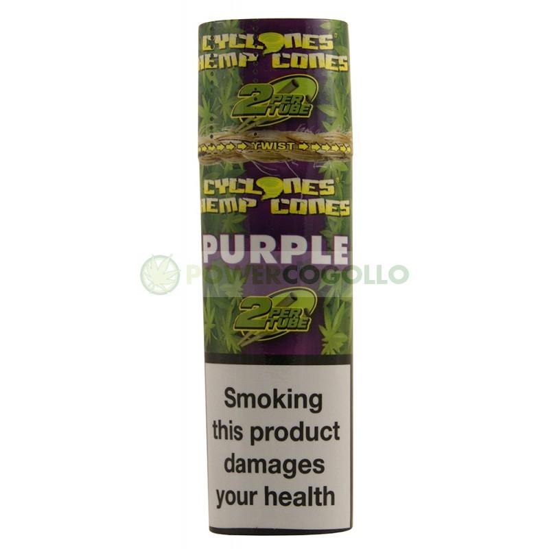 Cones Cyclones Hemp Blunt Purple (2 conos) 1