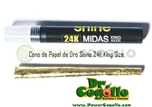 Cono de Papel de Oro Shine 24K King Size 0