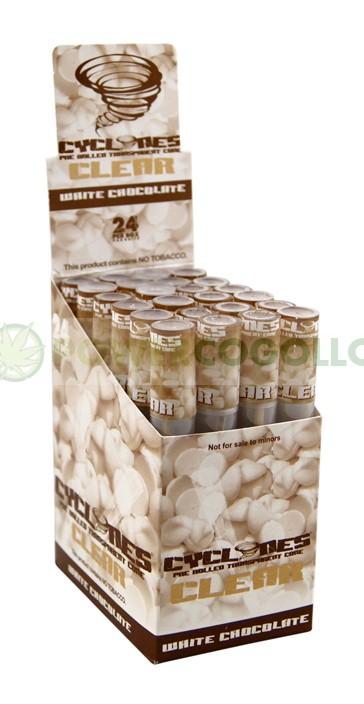 Cono Transparente Cyclones Chocolate Blanco 1