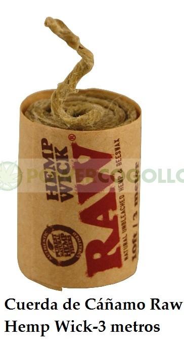 Cuerda de Cáñamo Raw Hemp Wick-3 mt 0