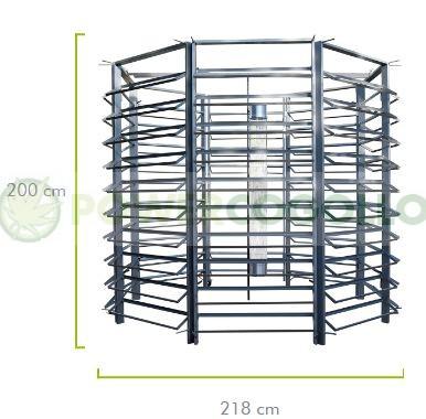 Cultivo Vertical Hidropónico 400 Plantas Medidas 5