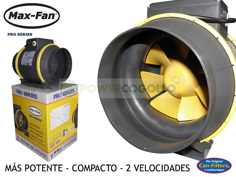Extractor Max Fan 2 Velocidades para cultivo armario interior 0