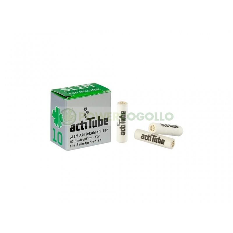 Filtros ActiTube Slim 7mm Boquillas Carbon Activo 10 unidades 1