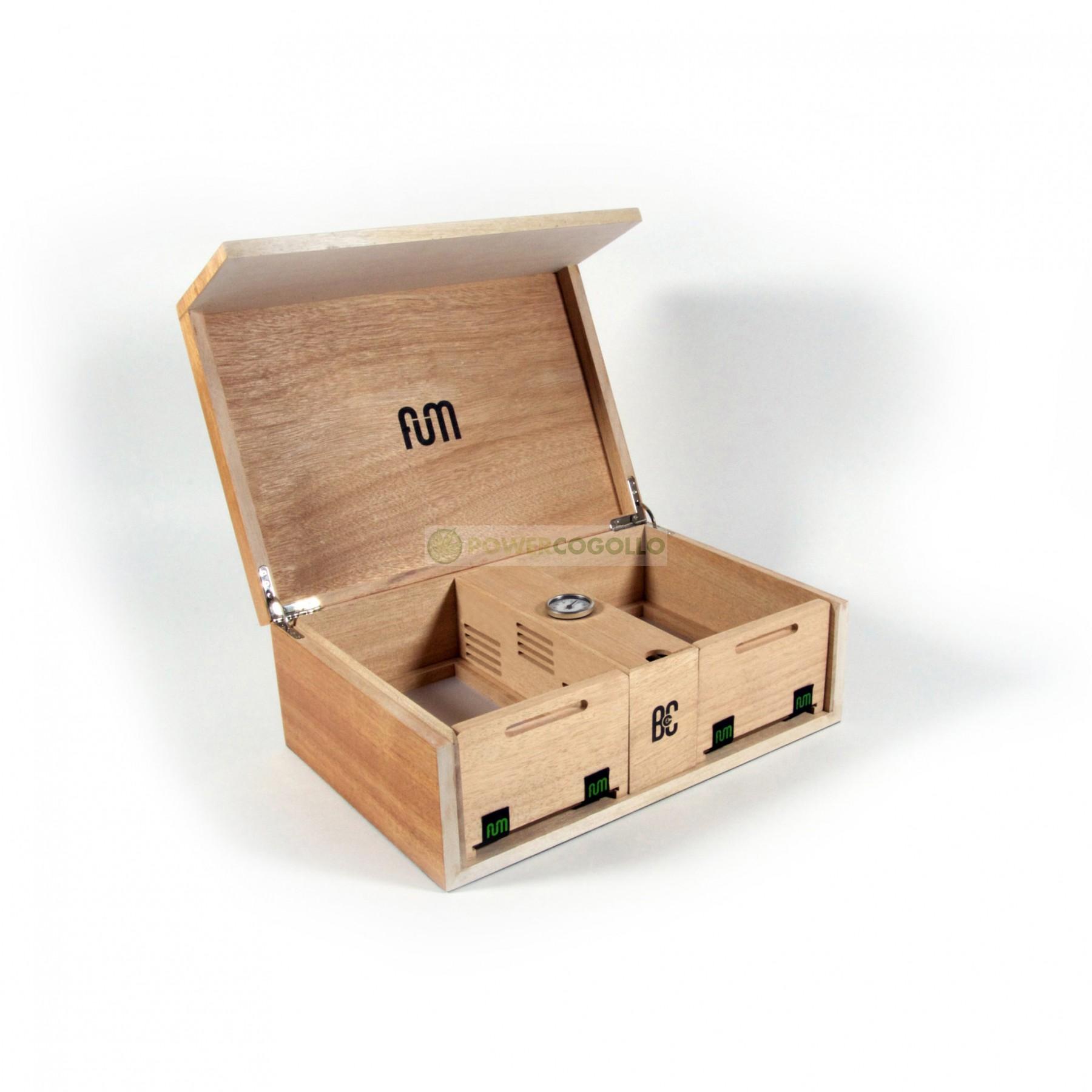 Caja FumBox de Curado Humidor Grande 2