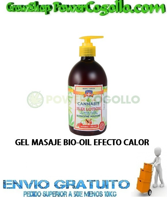 GEL MASAJE BIO-OIL EFECTO CALOR 500ML PALACIO 0