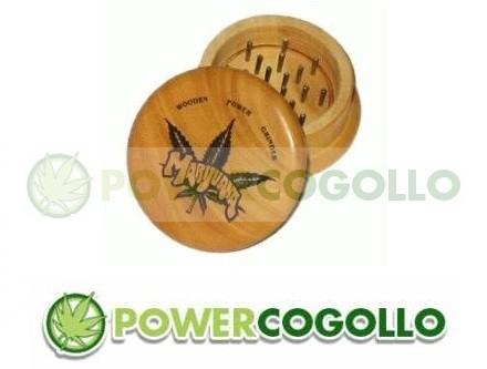 Grinder de Madera Marijuana Leaf 0