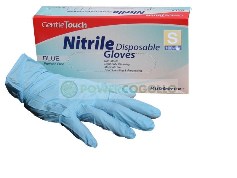 GUANTES NITRILO AZULES TALLA L (10und) 1