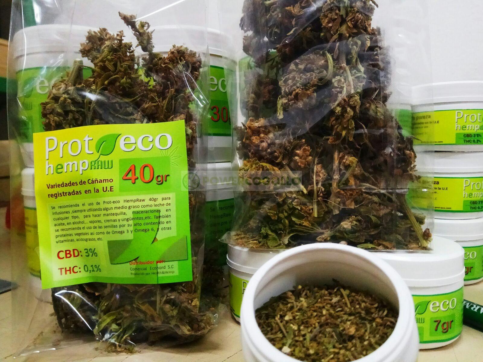Hemp Raw Flores ricas en CBD (Prot-eco) 1