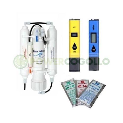 Kit Iniciación Hidroponía (Filtro Osmosis + phmetro + conductimetro) 0