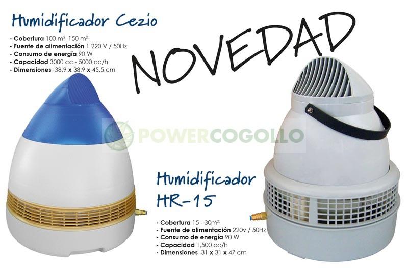 Humidificador HR-15 (15-30m2) para armario de cultivo 0