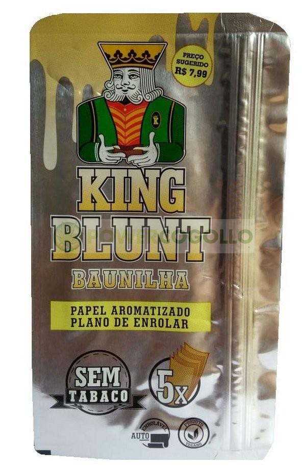 KING BLUNT WRAPS K.S. 5 HOJAS SABORES-vainilla 1