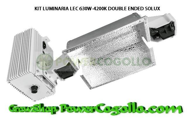 KIT LUMINARIA LEC 630W-4200K DOUBLE ENDED SOLUX 0