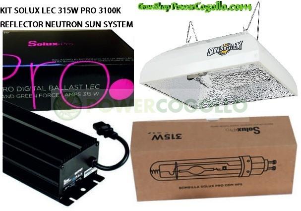 KIT SOLUX LEC 315W PRO 3100K NEUTRON SUN SYSTEM 0