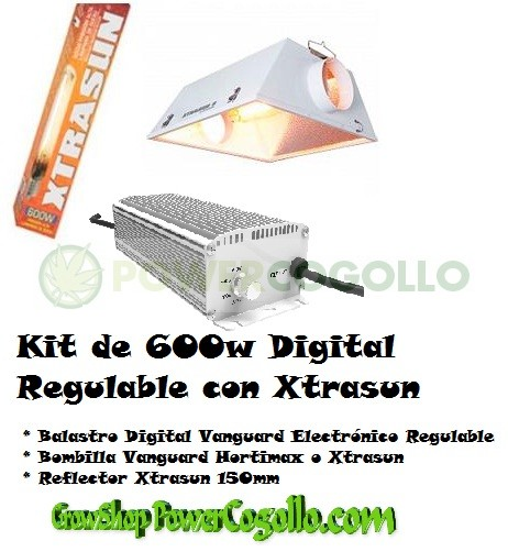 Kit 600w Balastro Digital + Bombilla Mixta + Reflector Xtrasun 0