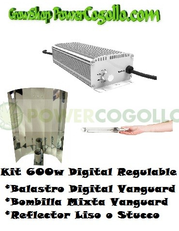 Kit 600w Digital Regulable + Bombilla mixta + Reflector Liso o Stucco 0