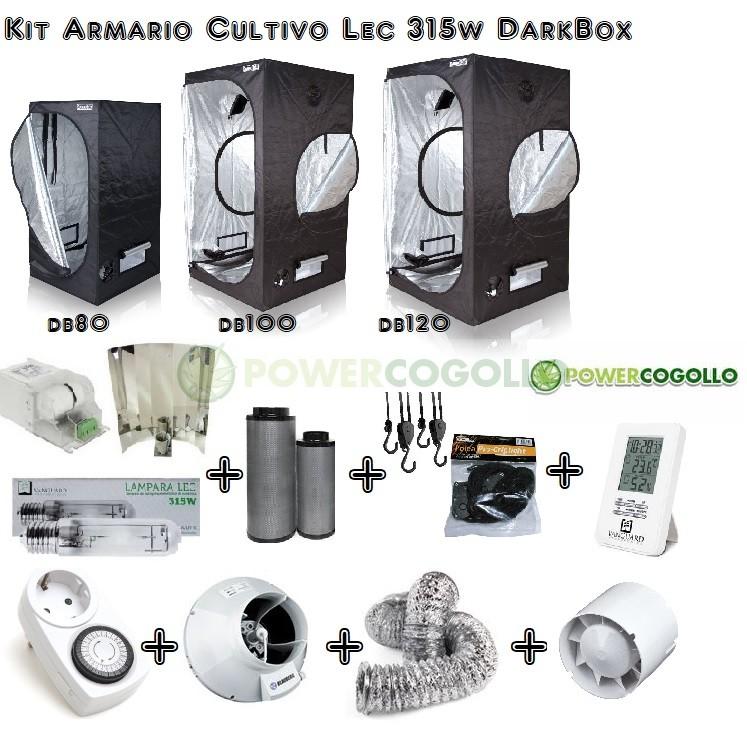 Kit Armario Cultivo Lec 315w Dark Box 0