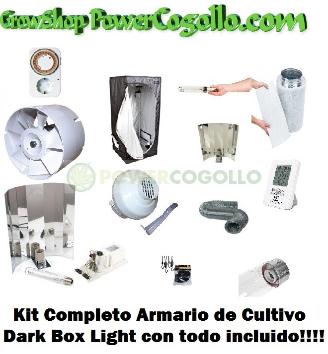 Kit armario de Cultivo Dark Box Light ECO 400w 1