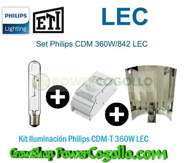 Kit Iluminación Philips CDM-T 360W LEC-REFLECTOR LISO 0