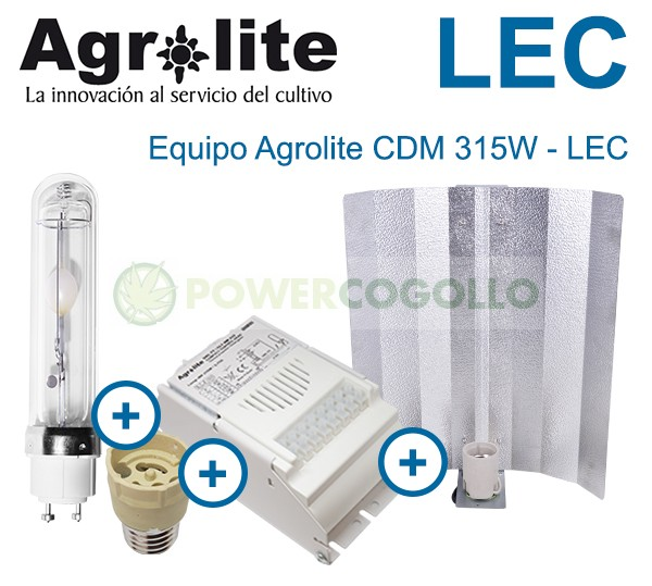 Kit LEC 315W Agrolite Magnético 3000K  1
