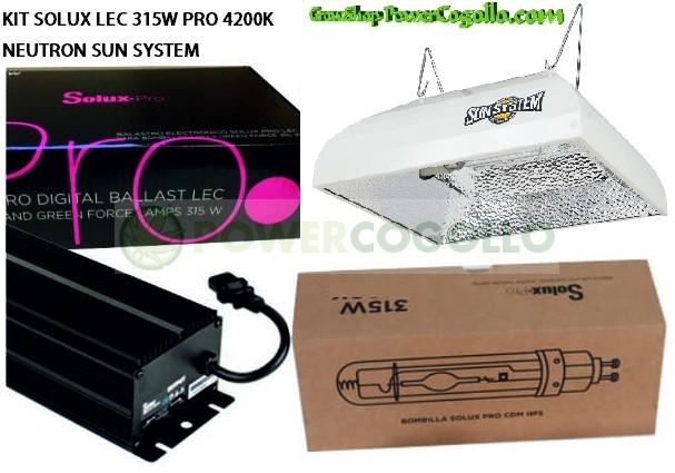 KIT SOLUX LEC 315W PRO 4200K NEUTRON SUN SYSTEM 0