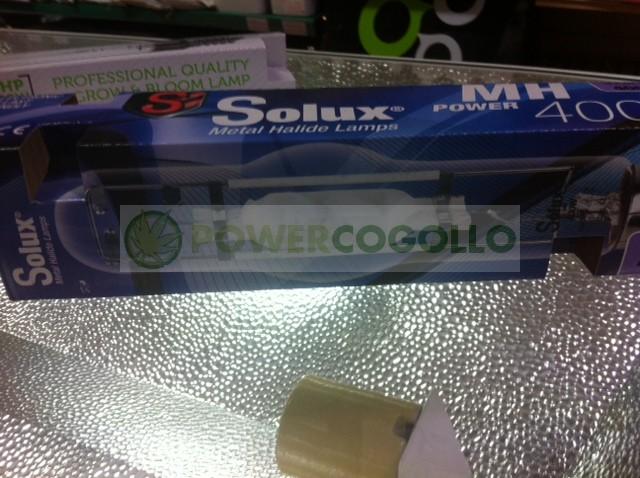 Bombilla 400w Solux Halogenuro Metálico M.H. de Crecimiento para Cultivo en Armario en Interior 0