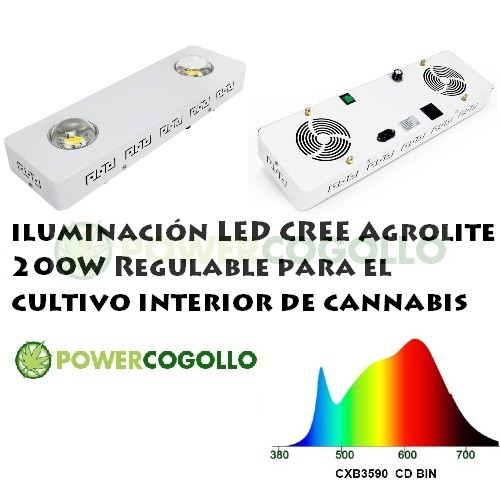 LED CREE Agrolite 200W Regulable 0