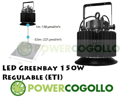 LED Greenbay 150W Regulable (ETI) 0