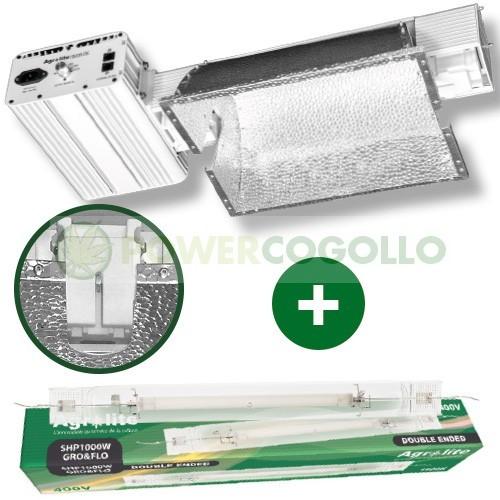 Luminaria DE PRO 1000W+Bombilla Agrolit 2