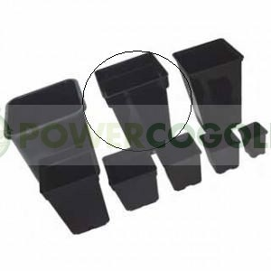 Maceta Negra Cuadrada 20x20x28 cm (7Lt) 0