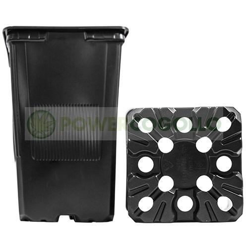 Maceta Cuadrada Negra 11x11x15,5 (1,80L) 0