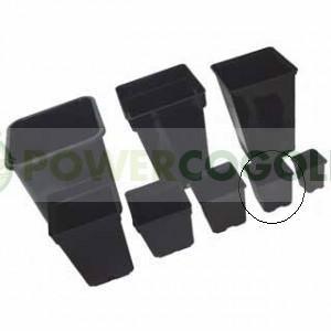 Maceta Cuadrada Negra 9x9x10cm (0.6L 0