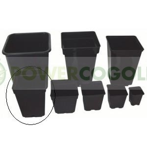Maceta Cuadrada Negra 15x15x20cm (3L) para cultiv 0