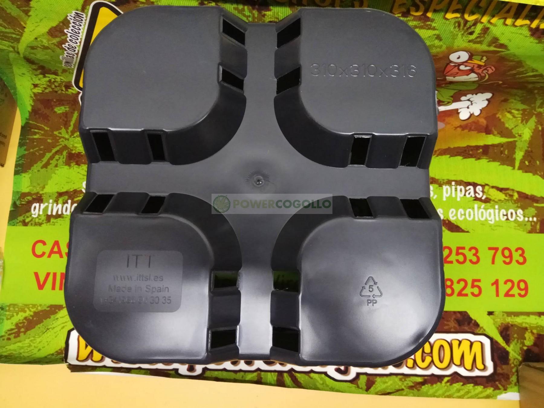 Maceta Cuadrada Negra (18 Litros) 31X31X31cm 4