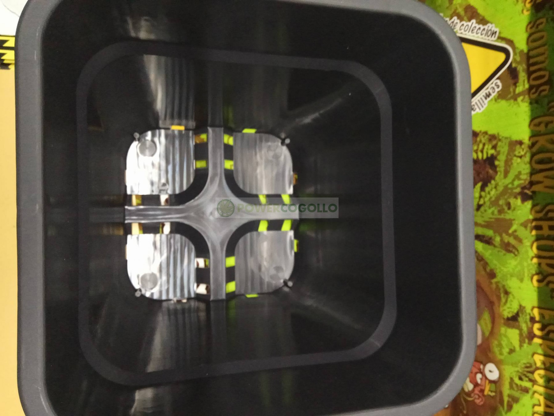 Maceta Cuadrada Negra (18 Litros) 31X31X31cm 1
