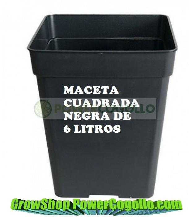 Maceta Negra Cuadrada (5,5 Lt) 1