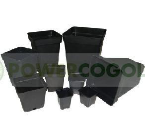 Maceta Negra Cuadrada 20x20x28 cm (7Lt) 1