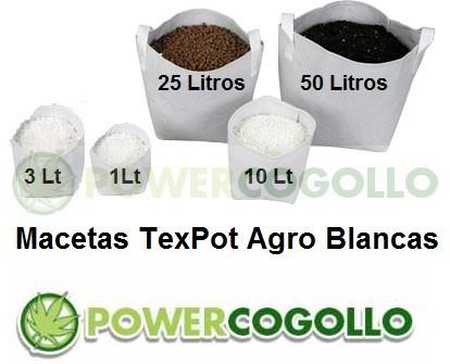 Maceta TexPot Agro Blanca 0