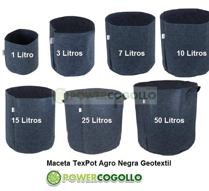 Maceta TexPot Agro Negra 0