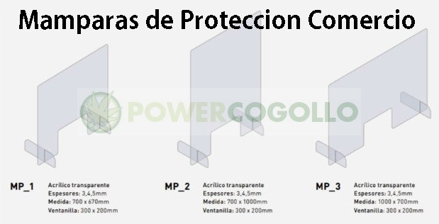 Mampara de Protección Transparente 70x100cm 0