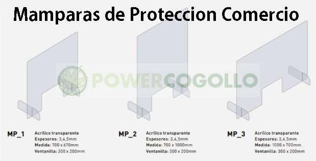 Mampara de Protección Transparente 100x70cm 0