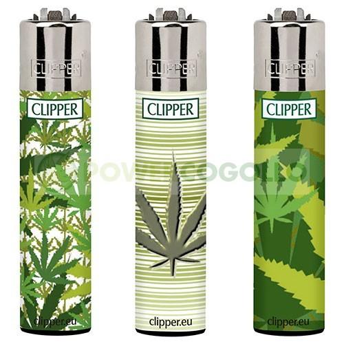 Mechero Clipper Hojas Marihuana  0