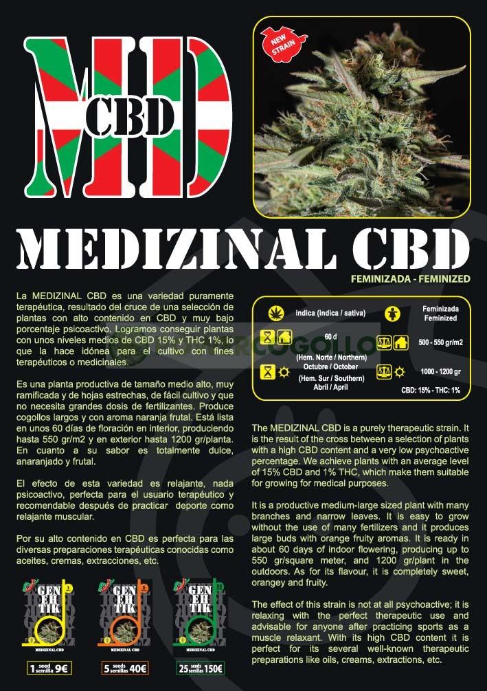Medizinal CBD Feminizada (Genehetik Seeds) 0