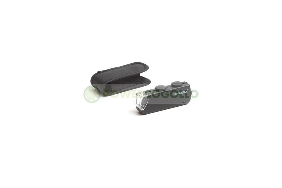 Lupa Mini Microscopio 60 x 100 con LED 1